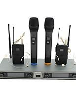 abordables -KEBTYVOR KG88 Câblé 6.3mm Microphone Micro Microphone Dynamique Microphone à Main Microphone Clip à Cravate Pour Microphone de Karaoké