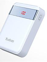 abordables -Banque de puissance 10000mah batterie externe 5 chargeur de batterie qc 2.0 led