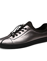 cheap -Men's Shoes Leatherette Leather Spring Summer Comfort Sneakers for Casual Black Silver