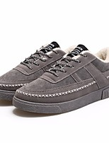 cheap -Men's Shoes PU Winter Fall Fluff Lining Comfort Sneakers for Casual Black Gray Blue