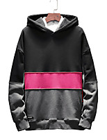 cheap -Men's Simple Long Sleeves Hoodie - Color Block Hooded
