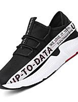 baratos -Homens sapatos Tule Primavera Verão Conforto Tênis para Casual Ao ar livre Branco/Preto Preto/Vermelho Preto/Amarelo