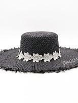 cheap -Women's Cute Casual Straw Hat - Jacquard, Mesh