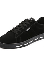 cheap -Men's Shoes Nubuck leather Spring Fall Comfort Sneakers for Casual Black Gray Almond Khaki