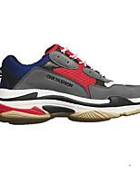 Недорогие -Муж. обувь Полиуретан Ткань Весна Удобная обувь Кеды для Повседневные Черный Серый Желтый