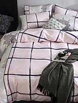 abordables -Ensembles housse de couette Géométrique 4 Pièces Polyester/Coton 100% Coton Jacquard Polyester/Coton 100% Coton 1 x Housse de couette 2 x