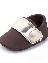 cheap -Boys' Shoes Canvas Spring Fall Crib Shoes First Walkers Comfort Flats Magic Tape for Casual Outdoor Coffee