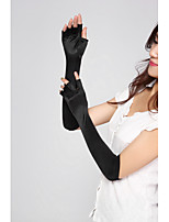 cheap -Women's Elbow Length Fingerless Gloves - Solid Colored