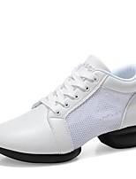 Недорогие -Жен. Танцевальные кроссовки Искусственное волокно Тюль С раздельной подошвой Кроссовки на открытом воздухе На низком каблуке Белый Черный