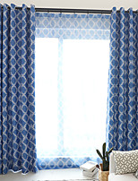 cheap -Two Panel Modern Minimalist Style Printed Blackout Curtains Living Room Bedroom Dining Room Curtains