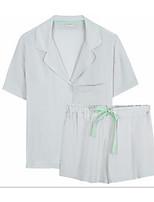 abordables -Satin & Soie Pyjamas Femme - Dentelle, Couleur Pleine