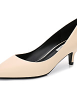 cheap -Women's Shoes PU Spring Fall Basic Pump Heels Stiletto Heel Pointed Toe for Office & Career White Black Dark Blue Almond