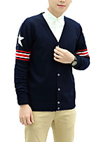 cheap -Men's Simple Long Sleeves Cardigan - Solid Colored Striped V Neck