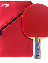 abordables -DHS® E506 Ping Pang/Tennis de table Raquettes Bois Caoutchouc 5 étoiles Long Manche Boutons