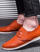 Недорогие -Муж. обувь Полиуретан Весна Осень Удобная обувь Туфли на шнуровке для Повседневные Белый Черный Оранжевый