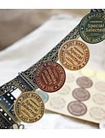 preiswerte -Weinlese-Thema Aufkleber, Etiketten und Schilder - 24 Kreisförmig Aufkleber Ganzjährig