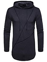 cheap -Men's Casual Hoodie - Solid Colored