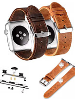 abordables -Bracelet de Montre  pour Apple Watch Series 3 / 2 / 1 Apple Bracelet en Cuir Cuir Sangle de Poignet