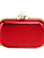 cheap -Women's Bags PU Evening Bag Pearl Detailing for Wedding Event/Party Spring All Seasons Black Silver Red Fuchsia Coffee