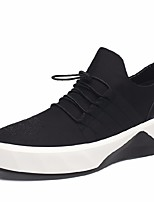 Недорогие -Муж. обувь Тюль Весна / Осень Удобная обувь Кеды Черный