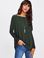 abordables -Tee-shirt Femme, Couleur Pleine Ample