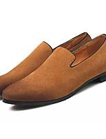 Недорогие -Муж. обувь Нубук Весна Осень Удобная обувь Мокасины и Свитер для Повседневные Черный Темно-синий Серый Коричневый