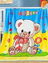 baratos -Velocino de Coral, Impressão Reactiva Desenho Animado Poliéster / Poliamida cobertores