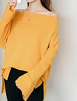 cheap -Women's Active Cotton T-shirt Boat Neck