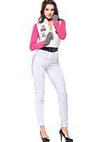 cheap -Uniforms Cosplay Costume Halloween Carnival Oktoberfest Festival / Holiday Halloween Costumes White Camouflage Color Cosplay Halloween