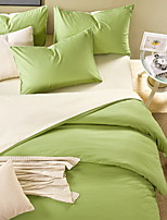 abordables -Ensembles housse de couette Couleur Pleine 3 Pièces Polyester/Coton Teinture Polyester/Coton 1 x Housse de couette 1 x Taie d'oreiller