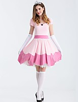cheap -Princess Dress Cosplay Costume All Halloween Masquerade Festival / Holiday Halloween Costumes Pink Solid Colored