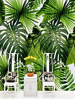 abordables -arbres/Feuilles Motif 3D Décoration d'intérieur Rétro Moderne Revêtement, Toile Matériel adhésif requis Mural, Couvre Mur Chambre