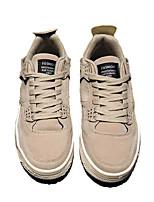 preiswerte -Herrn Schuhe Kunststoff Frühling Herbst Komfort Sneakers für Normal Schwarz Grau Braun
