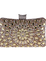 preiswerte -Damen Taschen Polyester Abendtasche Kristall Verzierung für Hochzeit Veranstaltung / Fest Ganzjährig Blau Gold Silber