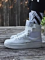 preiswerte -Herrn Schuhe PU Herbst Winter Komfort Sneakers für Normal Weiß Schwarz