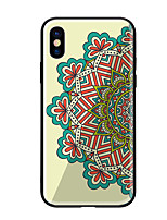 preiswerte -Hülle Für Apple iPhone X iPhone 8 Muster Rückseite Mandala Hart Gehärtetes Glas für iPhone X iPhone 8 Plus iPhone 8 iPhone 7 iPhone 6s