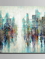cheap -Hand-Painted Abstract Square, Modern Canvas Oil Painting Home Decoration One Panel