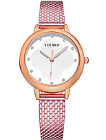 cheap -Women's Quartz Fashion Watch Chinese Casual Watch Other Band Minimalist Colorful Black Blue Silver Red Gold Pink Rose Rose Gold