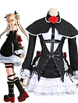cheap -Inspired by DOA5 Dead or Alive 5 Cosplay Anime Cosplay Costumes Cosplay Suits Dresses Other Bowknot Long Sleeves Dress Sleeves Gloves