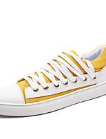 Недорогие -Муж. обувь Полотно Лето Удобная обувь Кеды для Повседневные Черный Желтый Зеленый