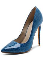 preiswerte -Damen Schuhe Lackleder Frühling Sommer Pumps Hochzeit Schuhe Stöckelabsatz Spitze Zehe für Hochzeit Party & Festivität Silber Rot Blau