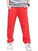 cheap -Boys' Daily Solid Pants, Cotton Spring Summer Simple Red