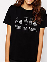 cheap -Women's Street chic T-shirt - Letter