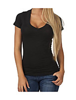 cheap -Women's Basic Street chic Puff Sleeve T-shirt - Solid Colored