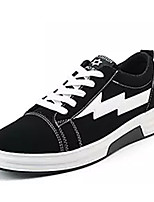 abordables -Homme Chaussures PU de microfibre synthétique Printemps Automne Confort Basket pour Décontracté Noir Noir/blanc Noir/Rouge