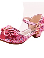 cheap -Girls' Shoes Sparkling Glitter Spring Summer Flower Girl Shoes Comfort Sandals Bowknot Buckle for Wedding Dress Silver Purple Pink