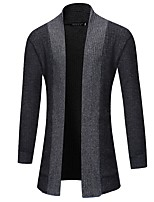 cheap -Men's Long Sleeves Cardigan - Solid Color