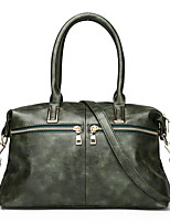 cheap -Women's Bags PU Tote Zipper for Shopping Casual All Seasons Green Black Blushing Pink Brown