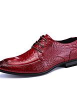 Недорогие -Муж. обувь Искусственное волокно Весна Осень Удобная обувь Туфли на шнуровке для Повседневные Черный Вино