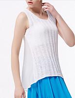 abordables -Tee-shirt Femme,Couleur Pleine Bretelles Croisées Basique